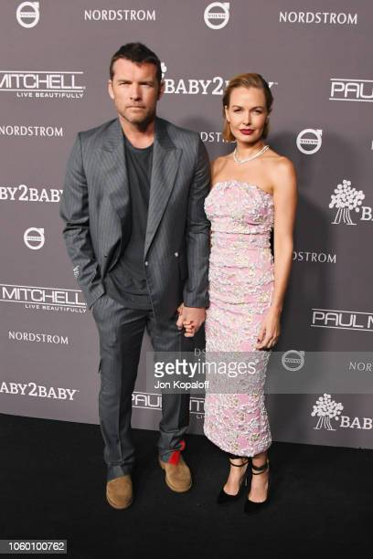 Sam Worthington and Lara Bingle Worthington attend the 2018 Baby2Baby Gala Presented by Paul Mitchell at 3LABS on November 10 2018 in Culver City...