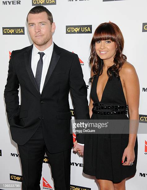 Sam Worthington and Natalie Mark arrive at G'Day USA 2010 Los Angeles Black Tie Gala held at Hollywood Highland on January 16 2010 in Hollywood...