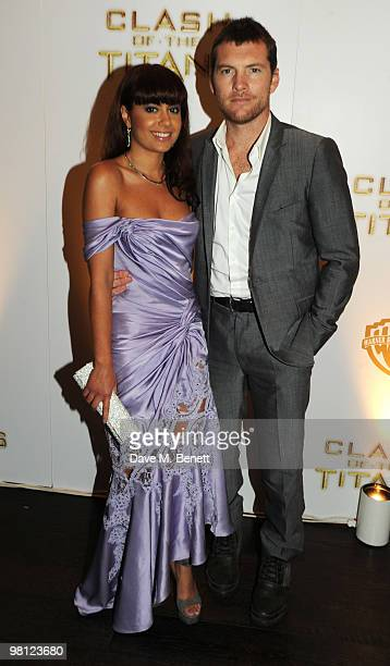 Sam Worthington and Natalie Mark attend the afterparty following the World premiere of 'Clash Of The Titans' at Aqua on March 29 2010 in London...