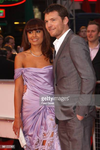 Sam Worthington and Natalie Mark attend the world premiere of 'Clash Of The Titans' at Empire Leicester Square on March 29 2010 in London England