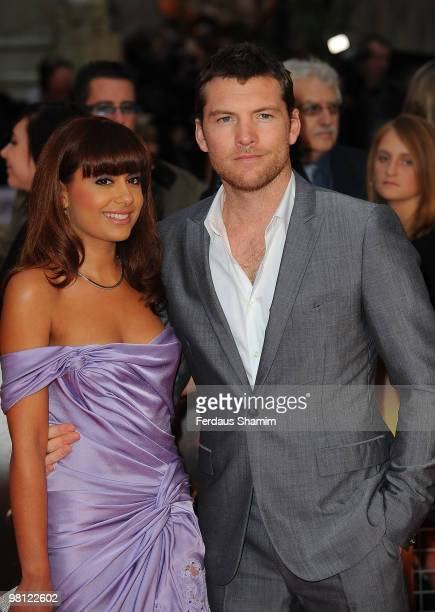 Sam Worthington and Natalie Mark attend the World Premiere of 'Clash Of The Titans' at Empire Leicester Square on March 29, 2010 in London, England.