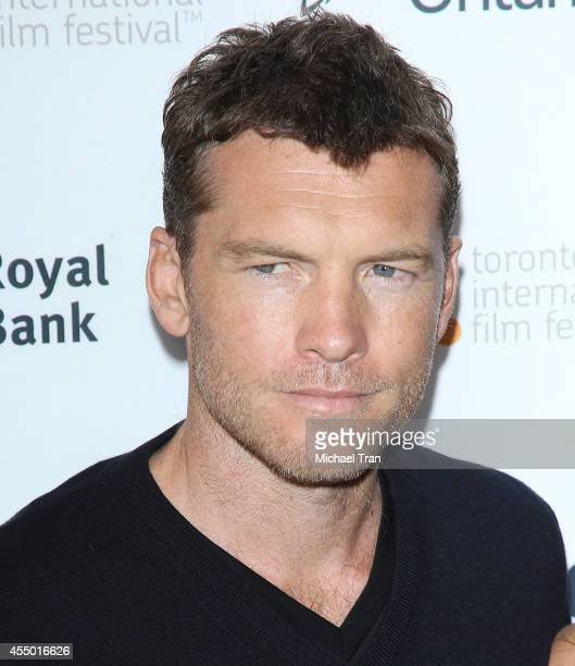 Sam Worthington arrives at the premiere of Cake held during the 2014 Toronto International Film Festival Day 5 on September 8 2014 in Toronto Canada