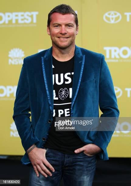 Sam Worthington arrives for Tropfest 2013 Short Film Festival at The Domain on February 17 2013 in Sydney Australia
