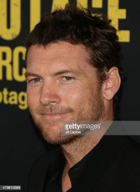 Sam Worthington attends the 'Sabotage' Los Angeles premiere held at Regal Cinemas LA Live on March 19 2014 in Los Angeles California