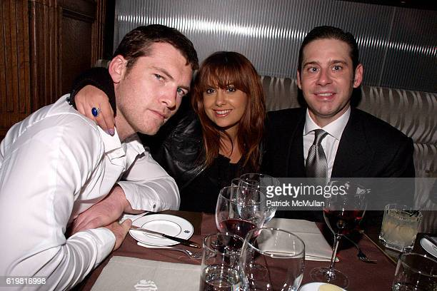 Sam Worthington, Natalie Mark and Derek Anderson attend The EDMONT SOCIETY AFFAIR After Party at The Oak Room on October 27, 2008 in New York City.