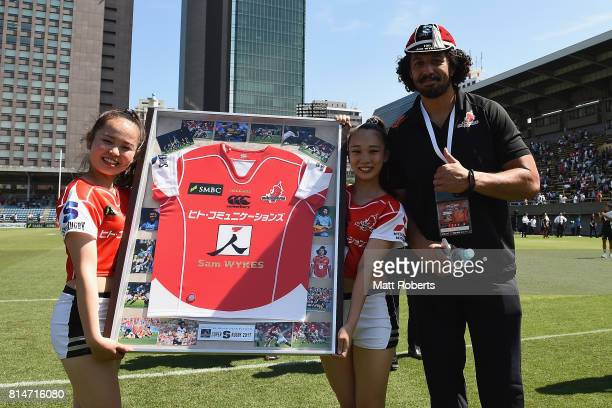 Sam Wykes of the Sunwolves poses for a photograph after the Super Rugby match between the Sunwolves and the Blues at Prince Chichibu Stadium on July...