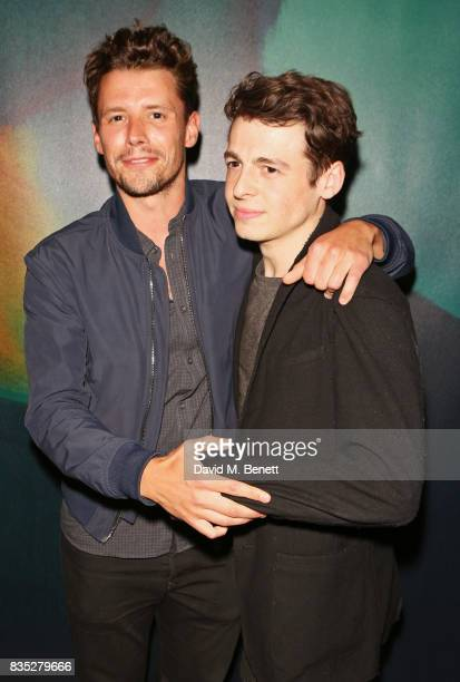 Sam Yates and Anthony Boyle attend the press night after party for 'Against' at The Almeida Theatre on August 18 2017 in London England