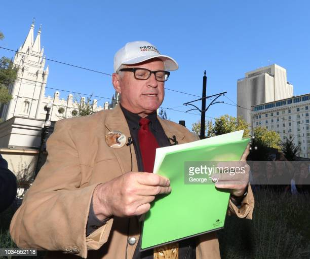 Sam Young former Mormon bishop and founder of Protect the Children reads a letter that will tell him if he has been excommunicated from the Church of...