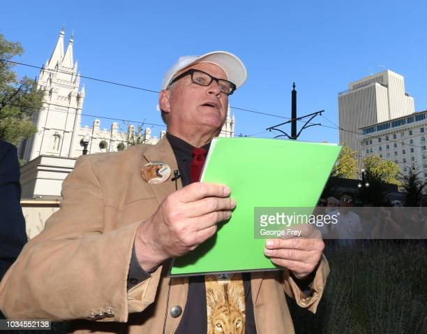 Sam Young former Mormon bishop and founder of Protect the Children reads a letter that informed him that he had been excommunicated from the Church...