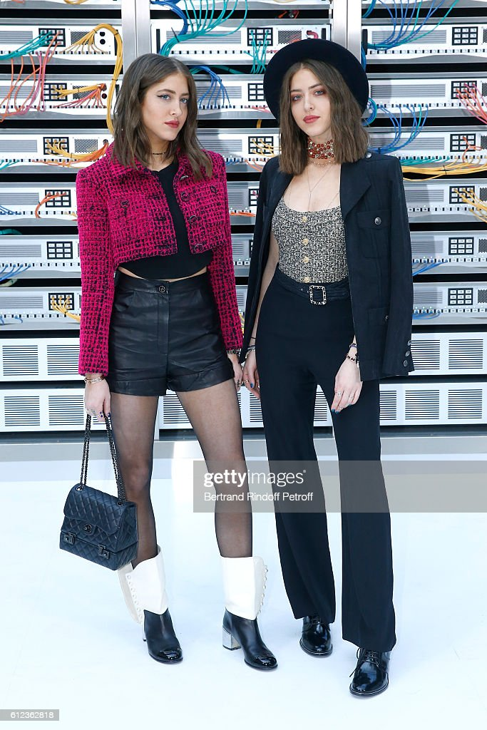 Sama Abu Khadra and Haya Abu Khadra attend the Chanel show as part of the Paris Fashion Week Womenswear Spring/Summer 2017 on October 4, 2016 in Paris, France.