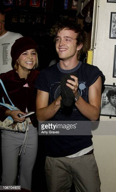 Samaire Armstrong Aaron Paul arriving at party during Surprise Birthday Party for Aaron Paul at Dimples in Burbank California United States