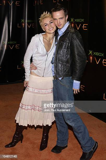 Samaire Armstrong Aaron Paul during Launch Party for Xbox Live Arrivals at Peek at The Sunset Room in Hollywood California United States