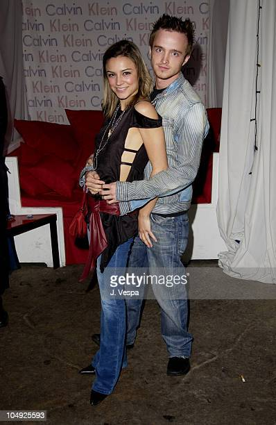 Samaire Armstrong Aaron Paul during Resident Evil Premiere After Party at the GQ Lounge at GQ Lounge in Los Angeles California United States