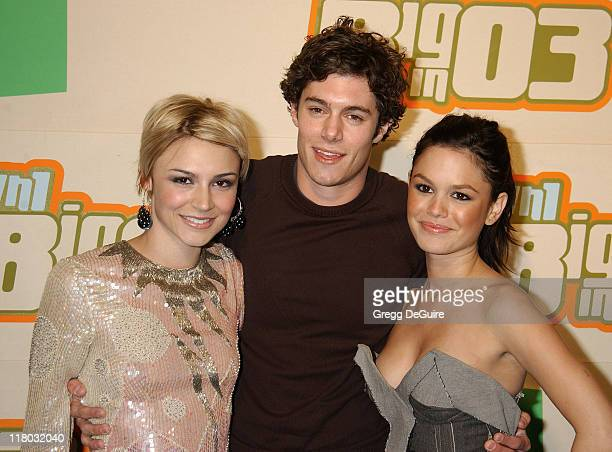 Samaire Armstrong Adam Brody and Rachel Bilson during VH1 Big In '03 Arrivals at Universal Amphitheater in Universal City California United States