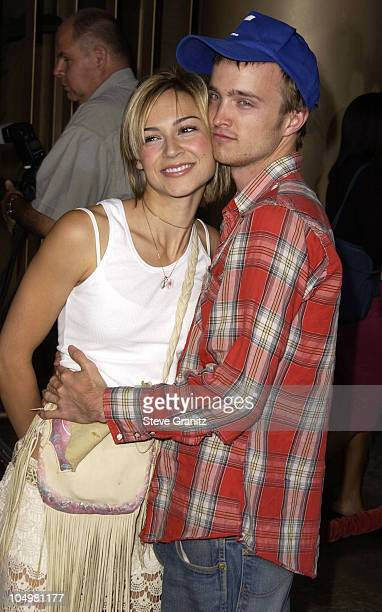 Samaire Armstrong and Aaron Paul during CQ Premiere Los Angeles at Egyptian Theatre in Hollywood California United States