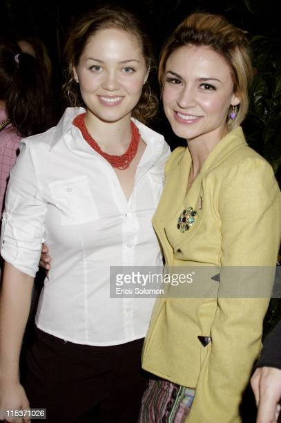 Samaire Armstrong and Erika Christensen during Teen Vogue 'Young Hollywood' Party at Chateau Marmont in West Hollywood California United States