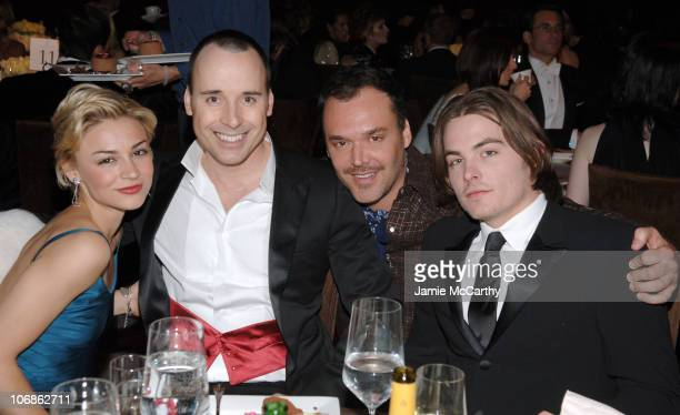 Samaire Armstrong David Furnish wearing Chopard David LaChapelle and Kevin Zegers **EXCLUSIVE**