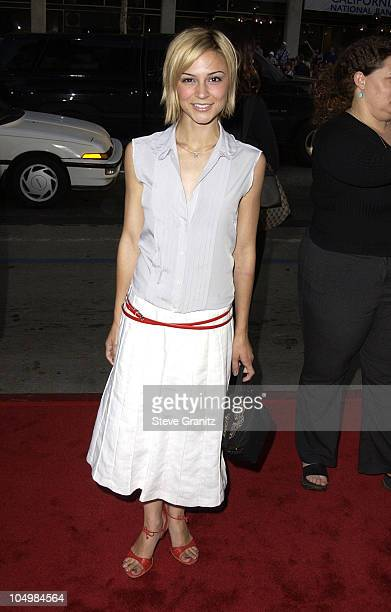Samaire Armstrong during Windtalkers Premiere at Grauman's Chinese Theatre in Hollywood California United States
