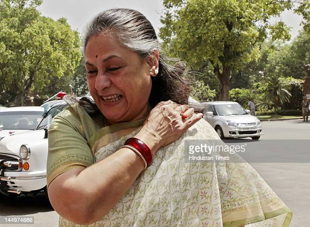Samajwad Party MP Jaya Bachchan during the Budget Session at Parliament house on May 21 2012 in New Delhi India Government tabled the Lokpal bill in...
