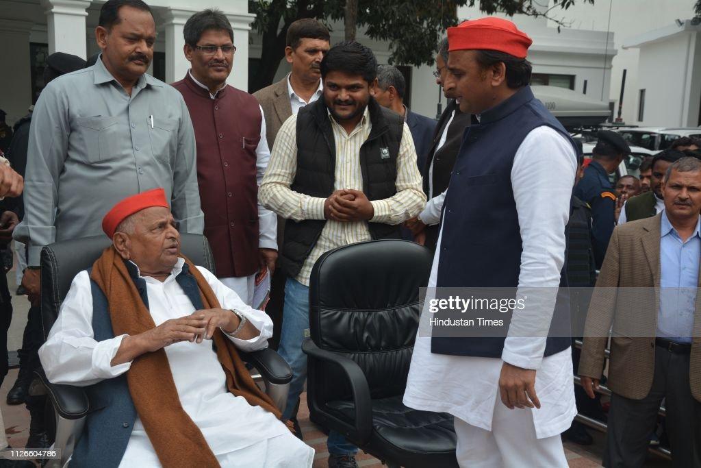 IND: Patidar Leader Hardik Patel Meets Samajwadi Party Leader Akhilesh Yadav
