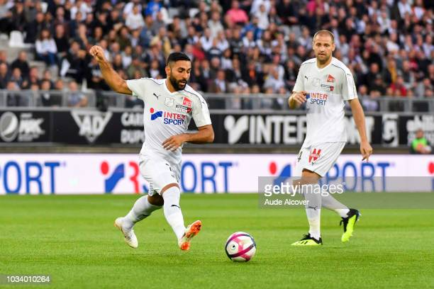 Saman Ghoddos and Mathieu Bodmer of Amiens during the French Ligue 1 match between SC Amiens and Lille LOSC on September 15 2018 in Amiens France