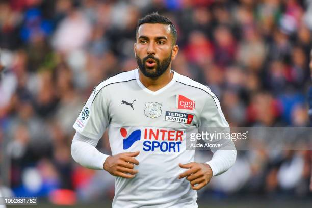 Saman Ghoddos of Amiens during the Ligue 1 match between Paris Saint Germain and Amiens SC at Parc des Princes on October 20 2018 in Paris France