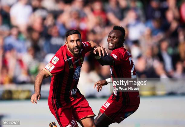 Saman Ghoddos of Ostersunds FK celebrates after scoring to 13 during the Allsvenskan match between GIF Sundsvall and Ostersunds FK at Idrottsparken...