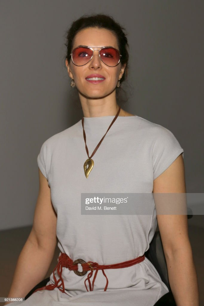 Samanta Bullock attends the Teatum Jones show during London Fashion Week February 2018 at BFC Show Space on February 20, 2018 in London, England.