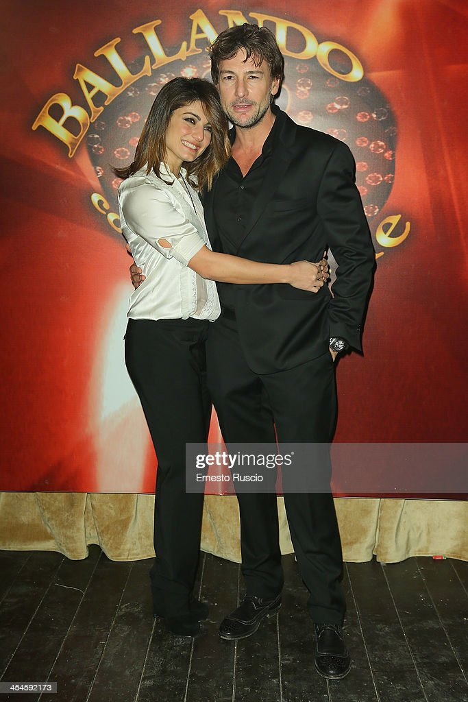Samanta Togni and Roberto Farnesi attend the 'Ballando con le stelle' 100th Episode Party at La Villa on December 9, 2013 in Rome, Italy.