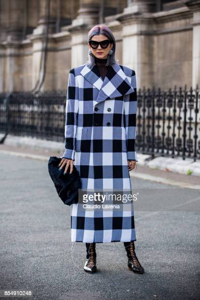 Samantha Angelo is seen after the Dries van Noten fashion show during Paris Fashion week Womenswear SS18 on September 27 2017 in Paris France