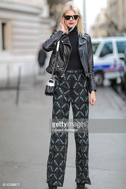 Samantha Angelo is wearing a Chanel bag after the Giambattista Valli show during Paris Fashion Week Womenswear Fall Winter 2016/2017 on March 7 2016...