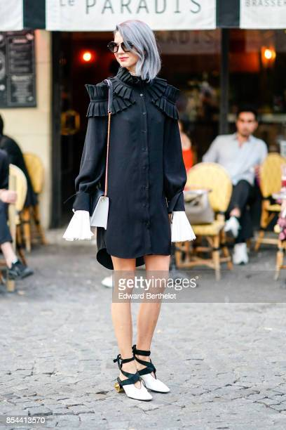 Samantha Angelo outside Koche during Paris Fashion Week Womenswear Spring/Summer 2018 on September 26 2017 in Paris France