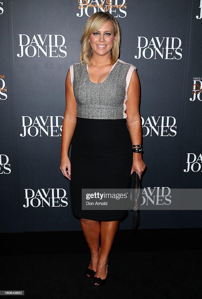 Samantha Armytage arrives for the David Jones A/W 2013 Season Launch at David Jones Castlereagh Street on February 6, 2013 in Sydney, Australia.