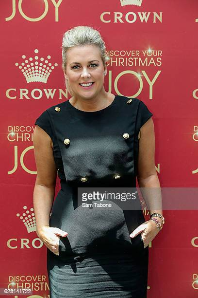 Samantha Armytage attends Ann Peacock's Women in Media Christmas Luncheon at The Atlantic at Crown Casino on December 7 2016 in Melbourne Australia