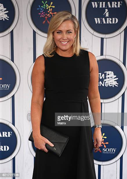 Samantha Armytage pictured at the Sony Foundations Wharf 4 Ward 2016 event at Woolloomooloo Wharf on October 27 2016 in Sydney Australia