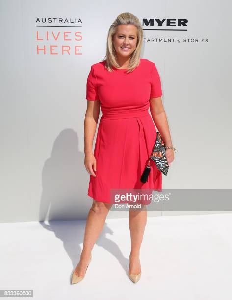 Samantha Armytage poses at the Myer Spring 2017 Fashion Launch on August 17 2017 in Sydney Australia
