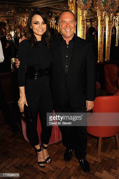 Samantha Barks and Michael Kors attend the Alexandra Shulman and Vogue Dinner in Honour of Michael Kors at the Cafe Royal on April 25 2013 in London...