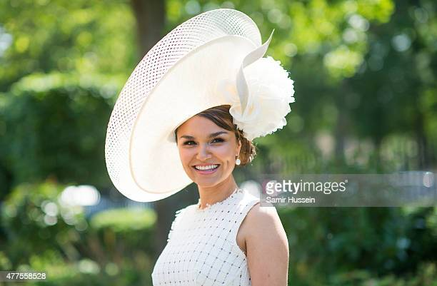 Samantha Barks attends Ladies Day on day 3 of Royal Ascot at Ascot Racecourse on June 18 2015 in Ascot England