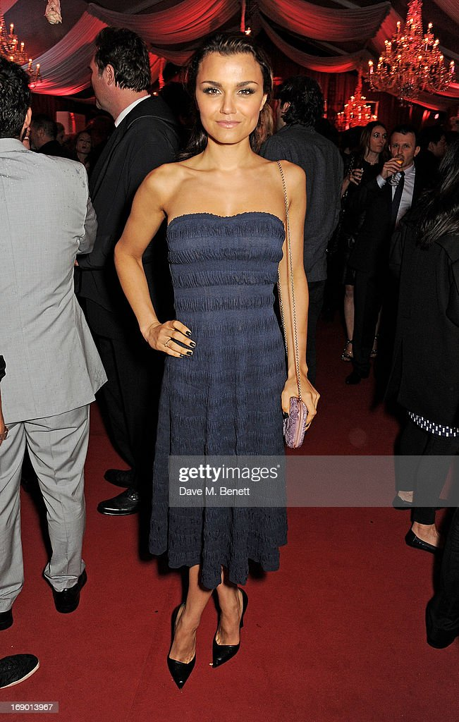 Samantha Barks attends Lionsgate's The Hunger Games: Catching Fire Cannes Party at Baoli Beach sponsored by COVERGIRL on May 18, 2013 in Cannes, France.