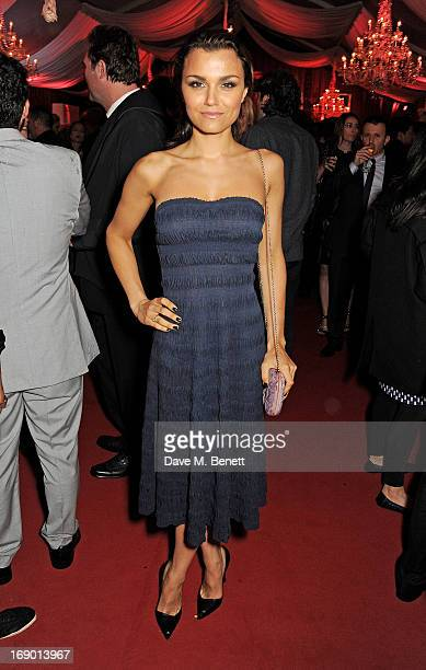 Samantha Barks attends Lionsgate's The Hunger Games Catching Fire Cannes Party at Baoli Beach sponsored by COVERGIRL on May 18 2013 in Cannes France