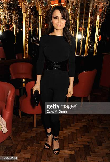 Samantha Barks attends the Alexandra Shulman and Vogue Dinner in Honour of Michael Kors at the Cafe Royal on April 25 2013 in London England