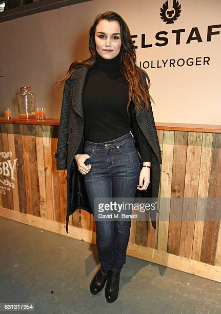 Samantha Barks attends the Belstaff presentation during London Fashion Week Men's January 2017 collections at Ambika P3 on January 9 2017 in London...