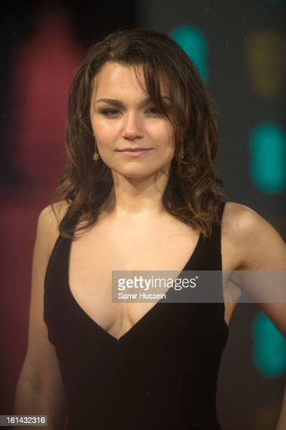 Samantha Barks attends the EE British Academy Film Awards at The Royal Opera House on February 10 2013 in London England