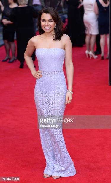 Samantha Barks attends the Laurence Olivier Awards held at The Royal Opera House on April 13 2014 in London England