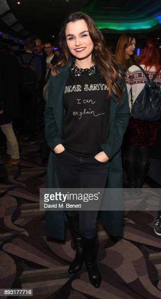 Samantha Barks attends the world premiere press night performance of 'Nativity The Musical' at Eventim Apollo Hammersmith on December 14 2017 in...