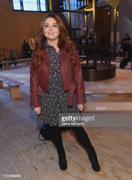 Samantha Barry, editor in chief for Glamour magazine attends Coach 1941 fashion show at the NYSE on February 2019 during New York Fashion Week on...