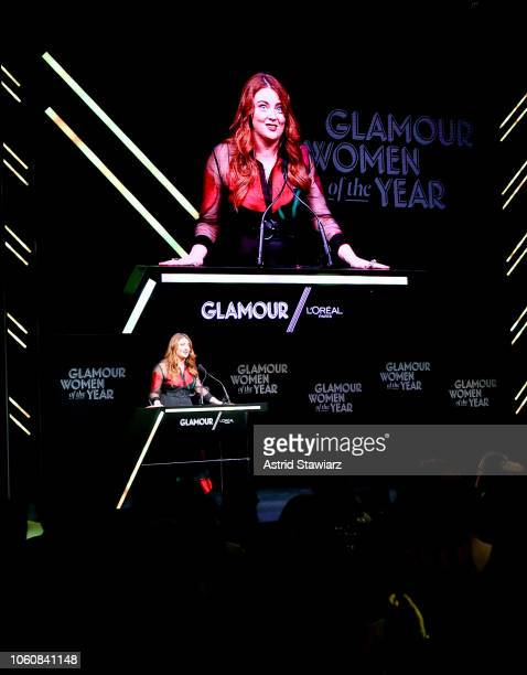 Samantha Barry speaks onstage at the 2018 Glamour Women Of The Year Awards Women Rise on November 12 2018 in New York City