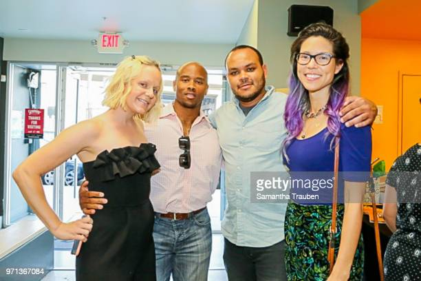 Samantha Becker Lawrence Campbell Micho Rutare and Kelli Flemming attend GenR LA Force for Change Photo Exhibition hosted by GenR and the...