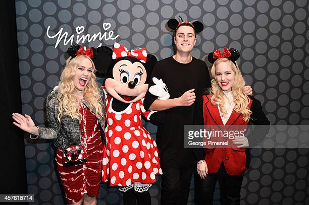 Samantha Beckerman Minnie Mouse designer Sid Neigum and Caillianne Beckerman attend the Minnie Mouse Presentation during World MasterCard Fashion...