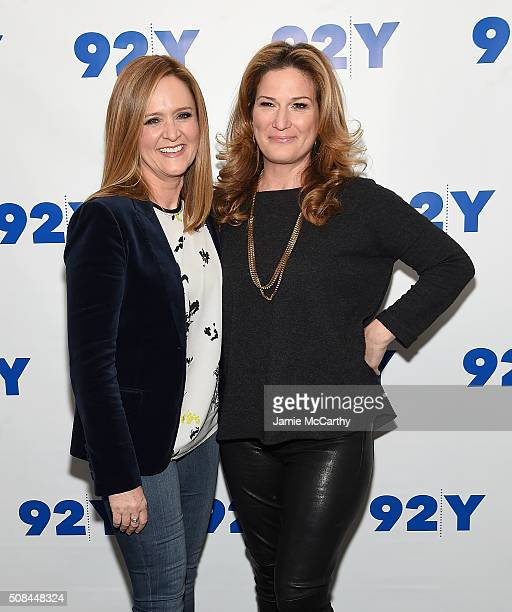 Samantha Bee and Ana Gasteyer attend 'Samantha Bee In Conversation With Ana Gasteyer' at 92nd Street Y on February 4 2016 in New York City
